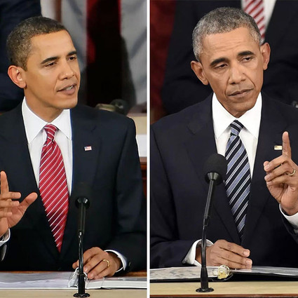 当总统其实是把杀猪刀,历任美国总统用上任前后对比照