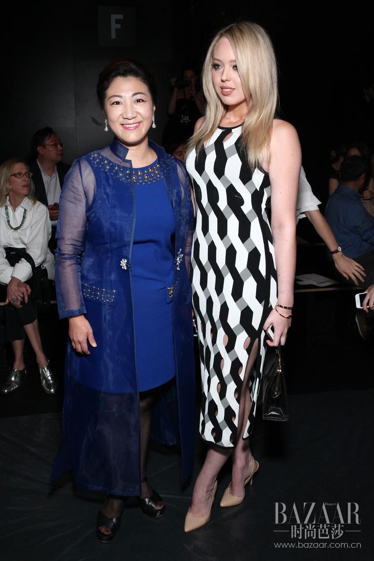 中国驻纽约副总领事张美芳与Tiffany Trump