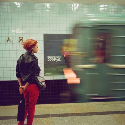 穿越时光机的莫斯科地铁站