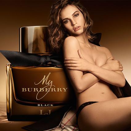 英国女演员Lily James主持时尚酒会,庆贺My Burberry Black隆重上市