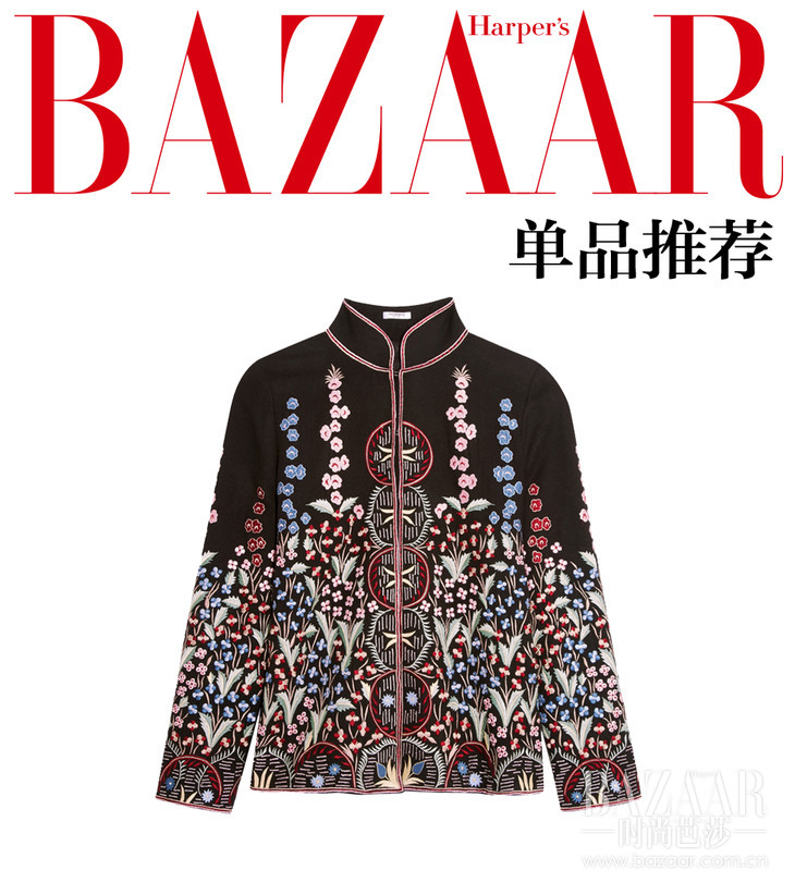 刺绣羊毛羊绒混纺外套  Vilshenko  约RMB 13,236 aa