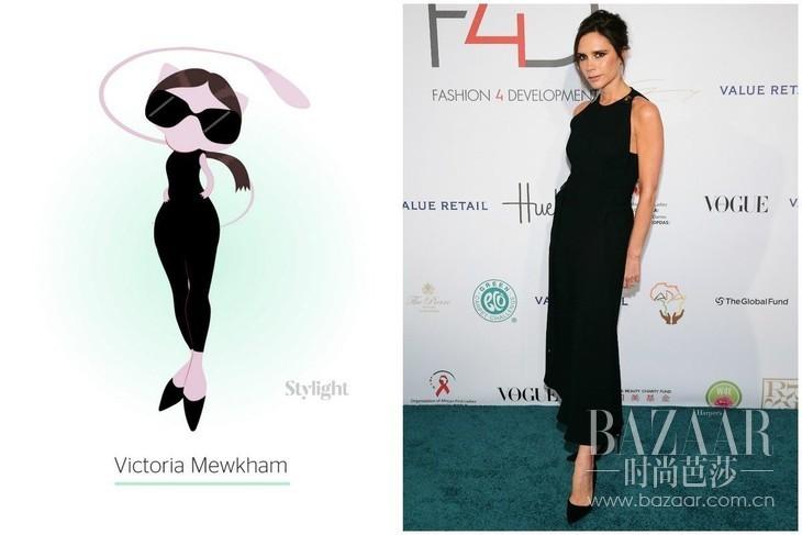 Victoria Mewkam:Victoria Beckham as Mew