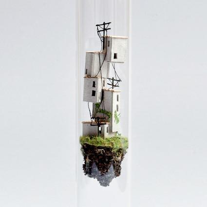 在玻璃试管儿里创造出一个漂浮的世界