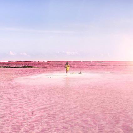 墨西哥的粉色水域,看一眼就忘不掉