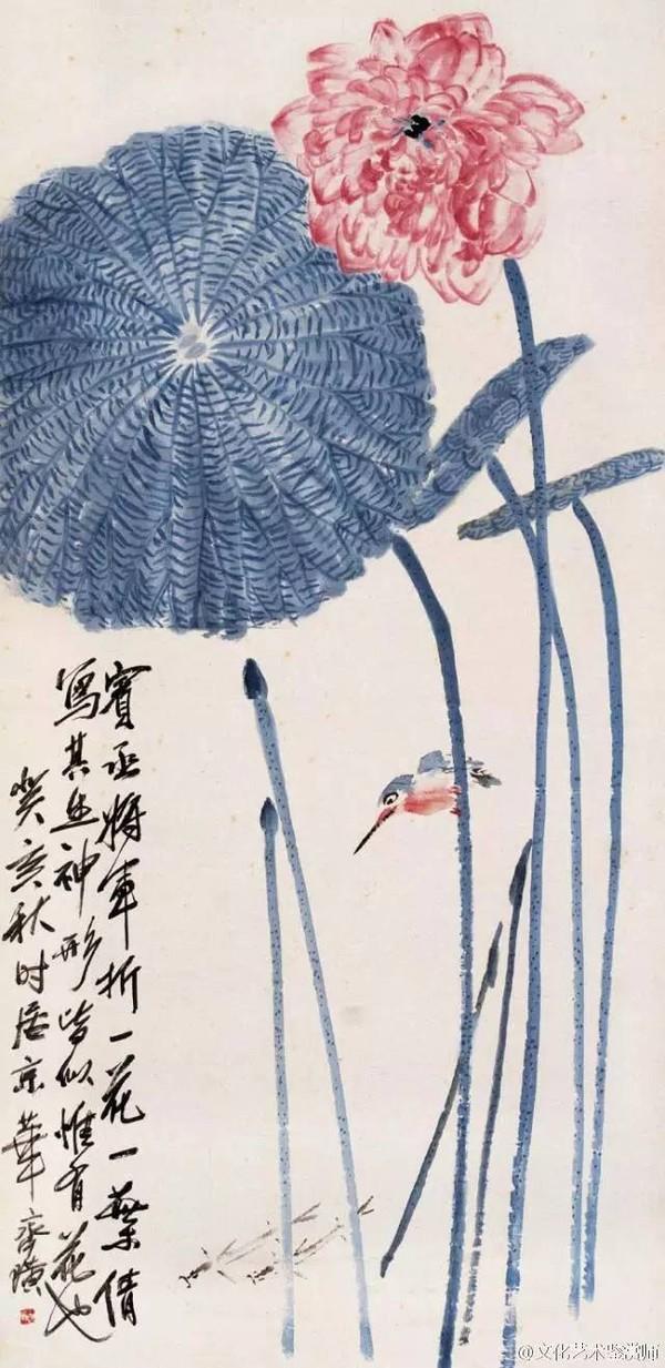 的蝉,把写意与工笔画有机团结在一起,草虫精妙,惟妙惟肖,绘声绘