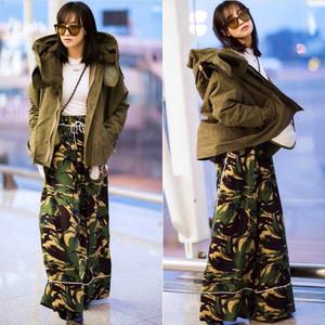 每日星范 | 宋茜 穿的睡衣风阔腿裤,自带气场又起范!