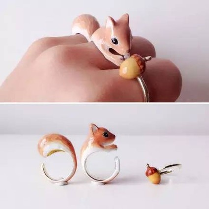 萌化人心的小动物戒指――在一起才完整!