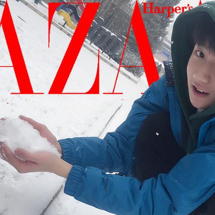 夏天没晒黑,学王源跑去玩雪,反而黑了两个度?!