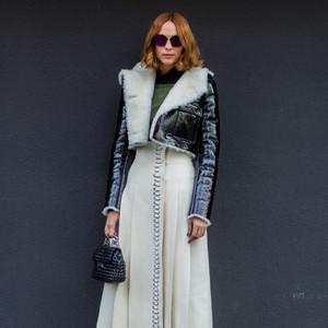 气温零下冻不坏我的少女心,深冬里也要看这些小裙子和棉衣谈恋爱!