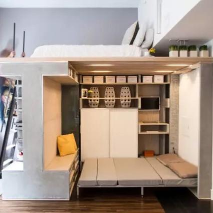 多功能「阁楼系统」充分利用小空间