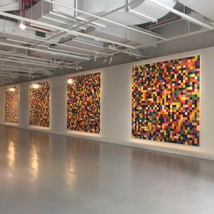"""4900个色块的排列组合,刘昊然、春夏是不是参加了""""最强大脑""""?"""
