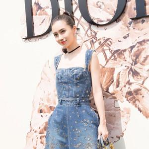没想到你是这样的牛仔裙,Baby穿时髦刘亦菲穿很少女!