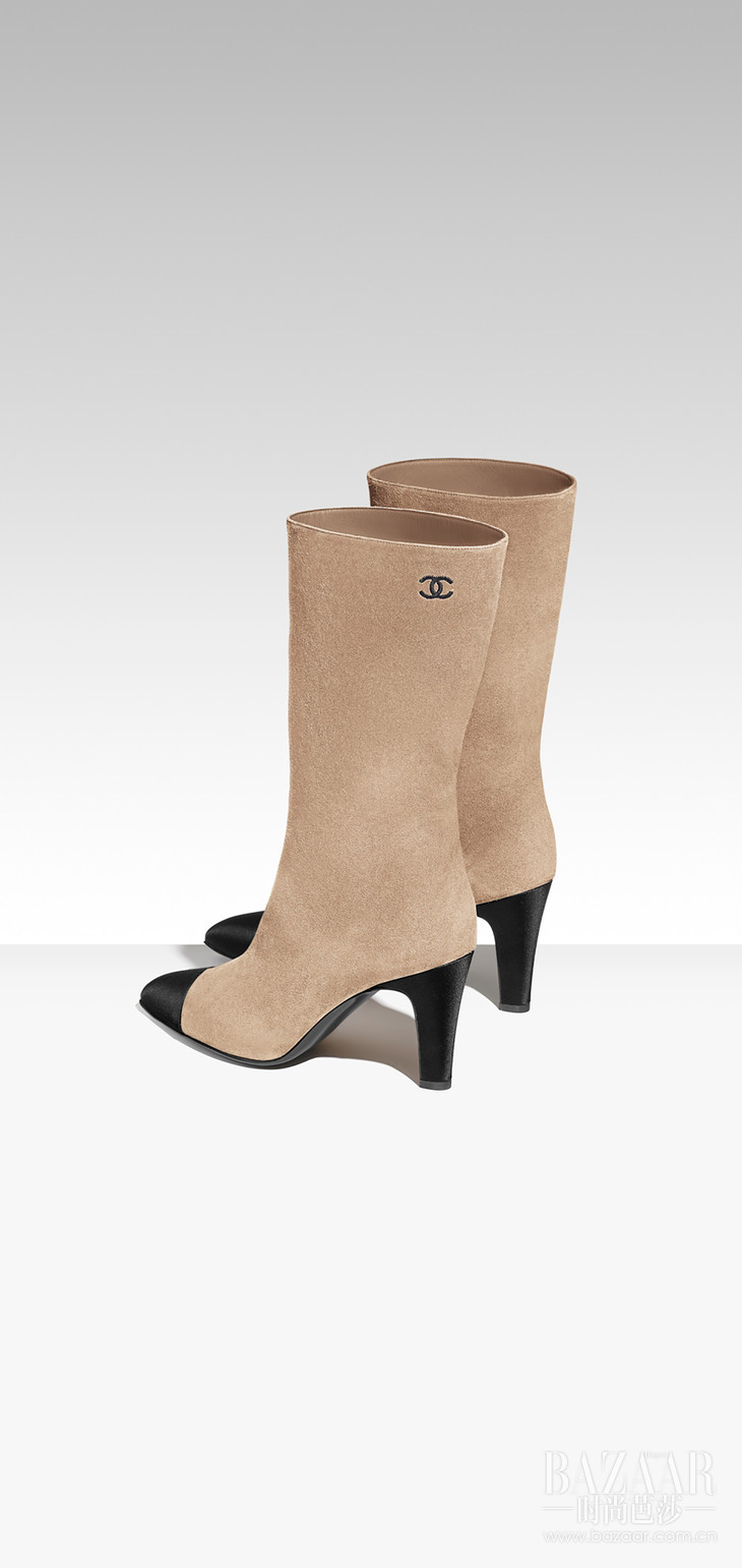 G33119-Y51214-C0204-Boots-in-beige-suede-and-black-satin