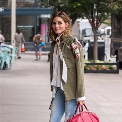 Olivia Palermo的真爱款,唐晶和安迪的女人味神器,都是这件系带上衣!