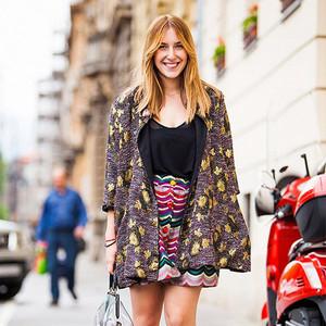 穿成腿长2米8,只要一件超长开襟花裙就能搞定!