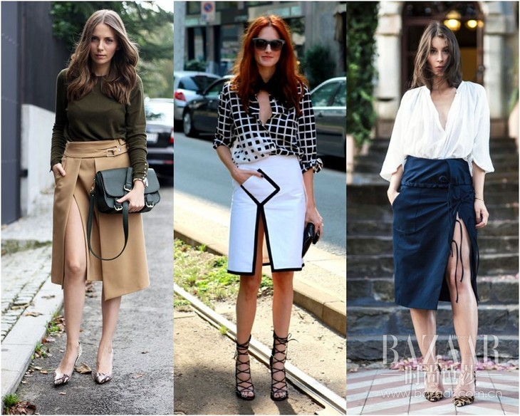 30-Somethings-women-fashion-style-split-skirt-shirt