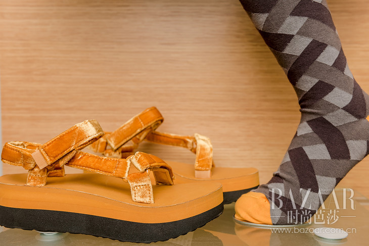 经典凉鞋Velvet款黄色