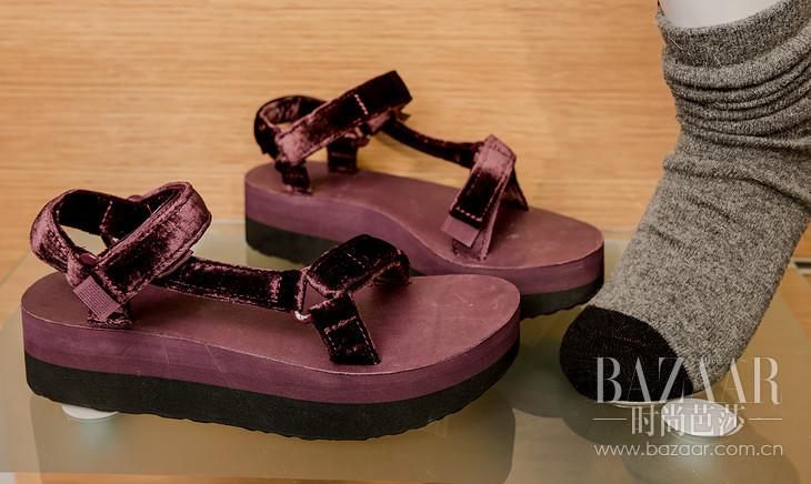 经典凉鞋Velvet款紫色