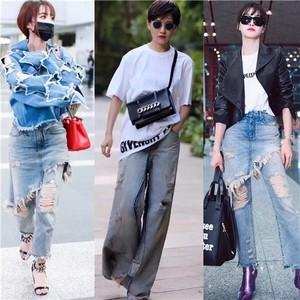 从焦俊艳宋茜,到天后蔡依林萧亚轩,都为牛仔裤放飞自我了!