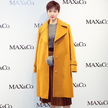 焦俊艳助阵MAX&Co.品牌全新形象店开幕活动,身着II Mio Cappotto限量款大衣,展现女性多面魅力