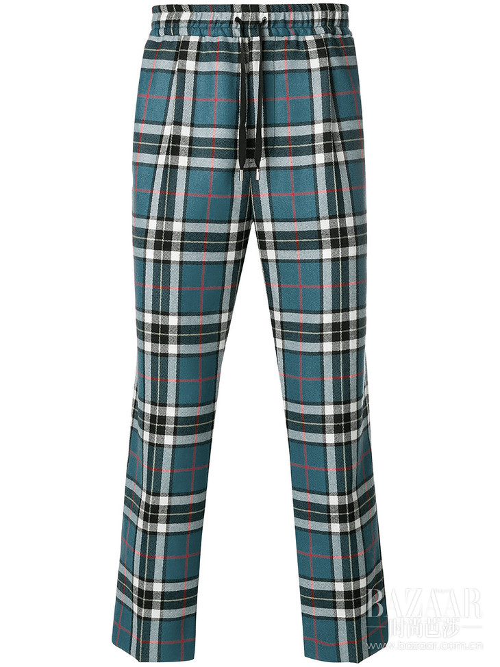 GUCCI tartan track pants at Farfetch