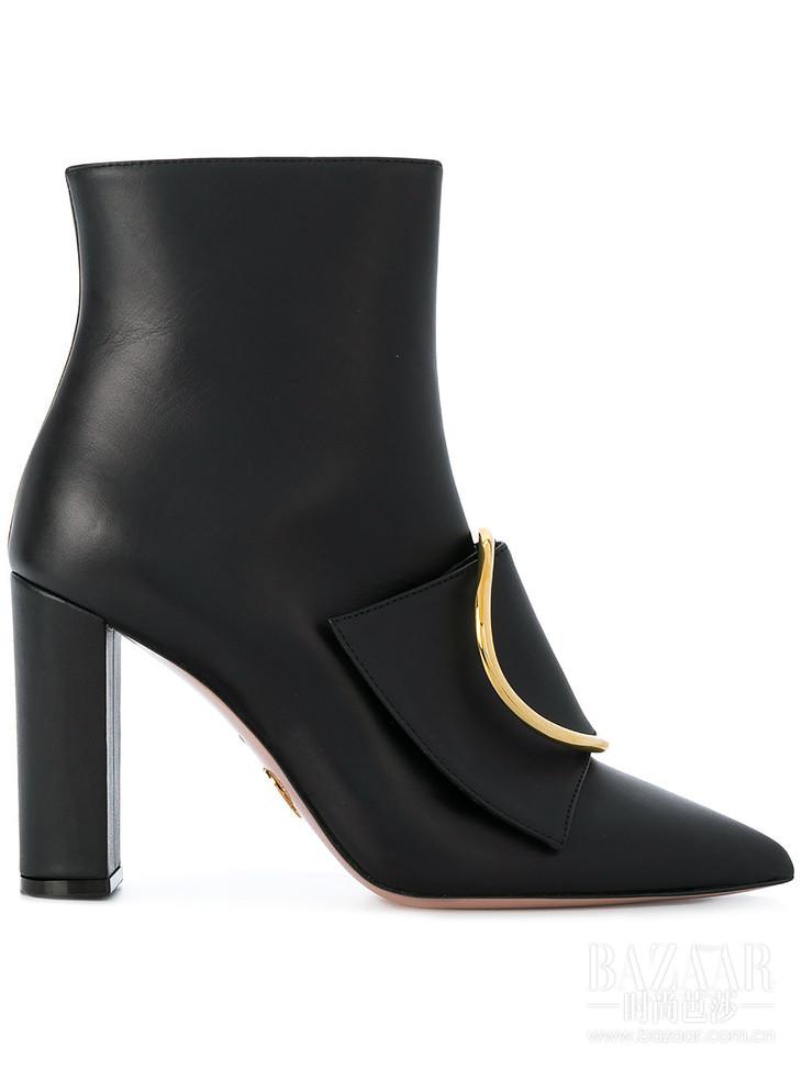 OSCAR TIYE buckle front heeled boots at Farfetch