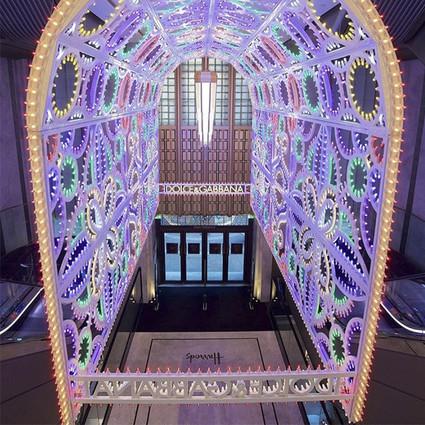 伦敦Harrods哈罗德百货与Dolce&Gabbana杜嘉班纳宣布圣诞独家合作