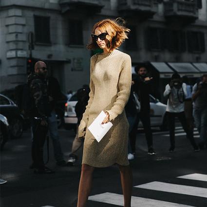 唐嫣袁姗姗初秋都靠这条针织裙显瘦,柔软的美好让世界变得更温暖