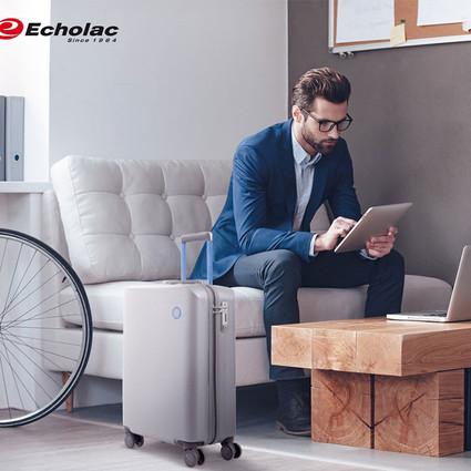 全新Echolac 爱可乐Echo-smart智能旅行箱,可以直接登机的智能旅行箱