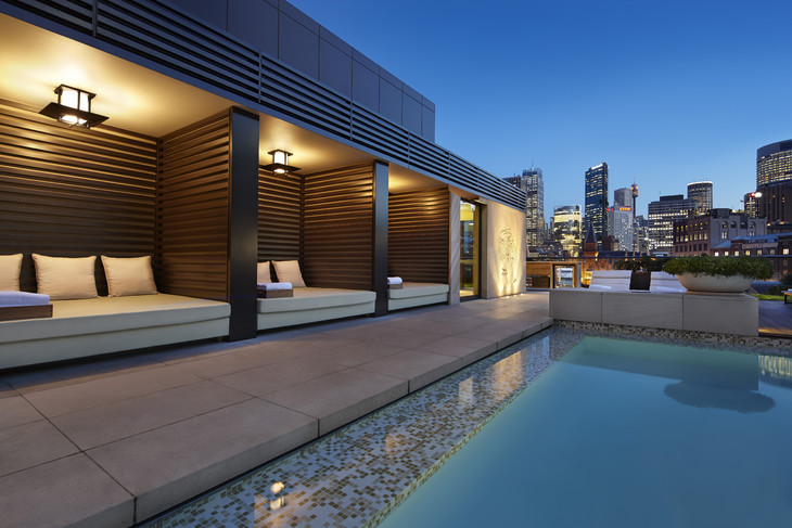4 Rooftop pool cabanas