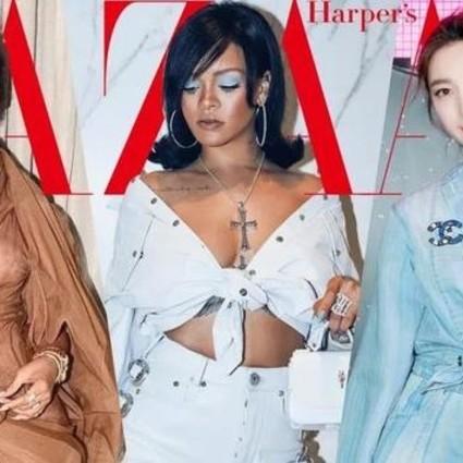 说Rihanna胖到震惊,但她却给衣服连打两个结儿实力显瘦!