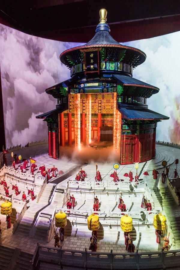 风云变幻下的天坛祈年殿亮相大城小像北京奠基仪式