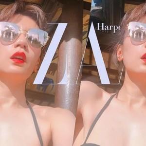 贾静雯的颈部真滑嫩,360度都看不出她43岁了!