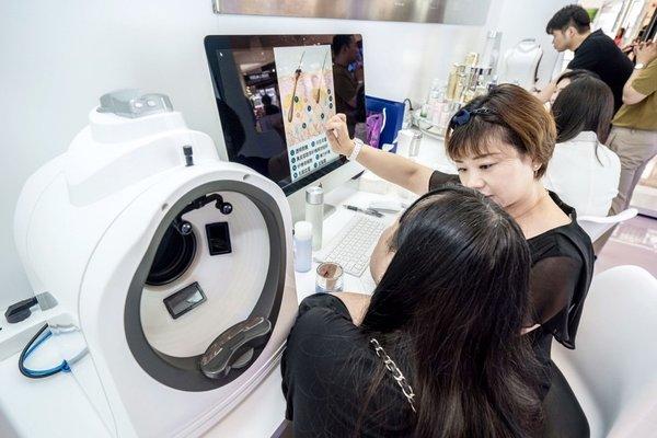 顾客体验专业的肌肤测试服务