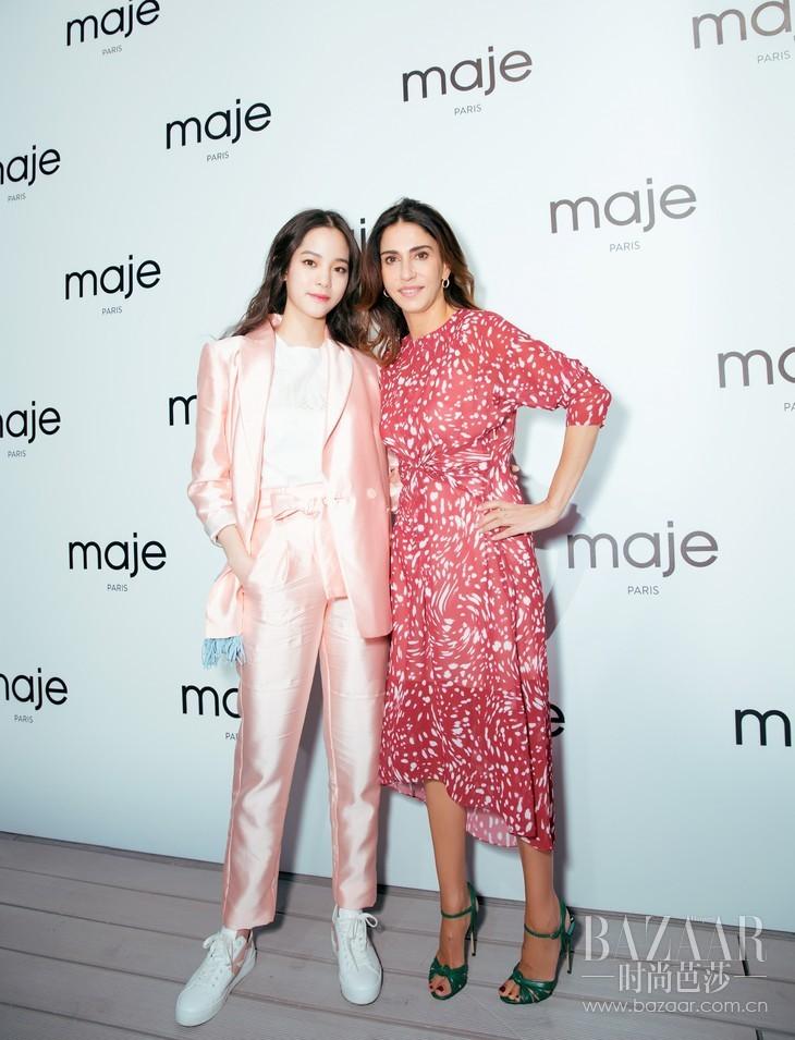 欧阳娜娜与Maje品牌创办人兼艺术总监Judith Milgrom