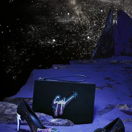 Giuseppe Zanotti繁星密布风格摇滚的「Galaxy」银河星系胶囊系列