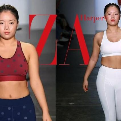 王菊一身运动装走T台,同步正确的健身方式才能瘦下来