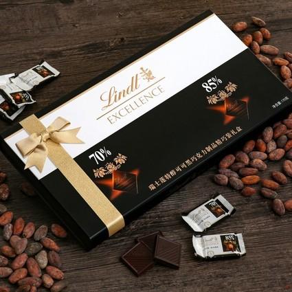 分享每一片浓醇,记录每一刻欢乐 瑞士莲Excellence首次为中国市场推出  – 瑞士莲特醇可可黑巧克力制品精巧装礼盒
