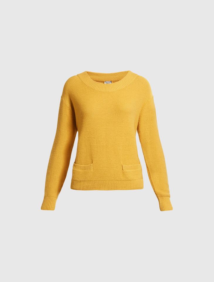 MARELLA暖黄色针织衫