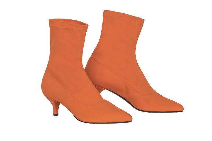 MARINA RINALDI橙色短靴
