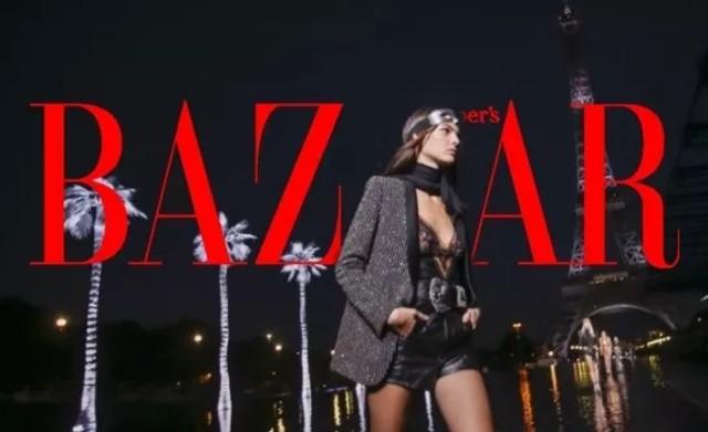 昨夜的巴黎,只为穿着Saint Laurent的女人闪耀