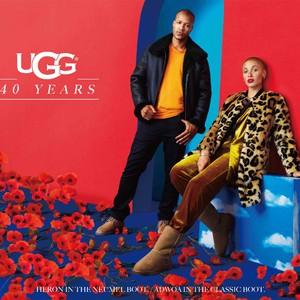 UGG发布最新全球广告大片 欢庆诠释品牌40周年 ——超模 Adwoa Aboah和设计师 Heron Preston倾力演绎