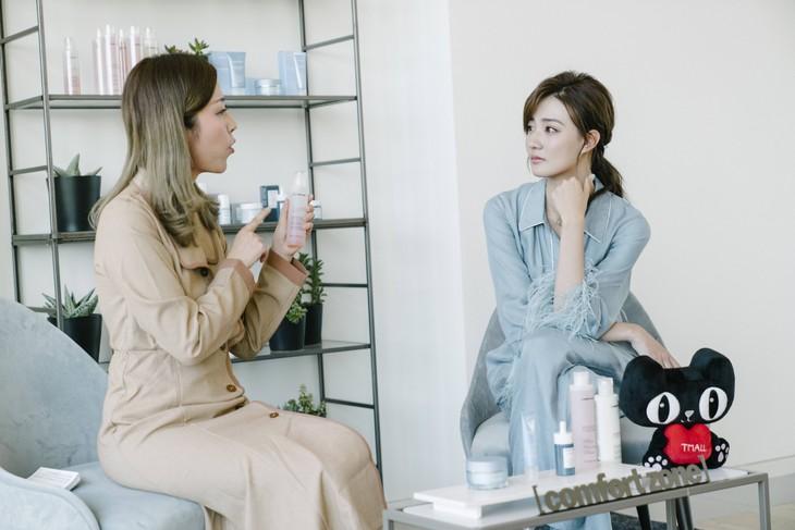 图1:[ comfort zone ]舒适地带中国区品牌体验官徐璐参与直播