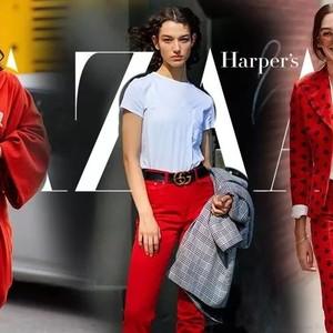 听说最近红白棉袄裹红大衣火了?