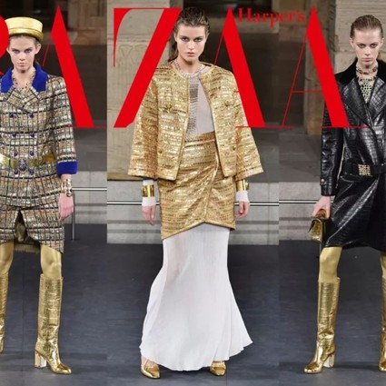 "Chanel""闯进""博物馆,用闪烁金光唤醒尼罗河畔的女神"