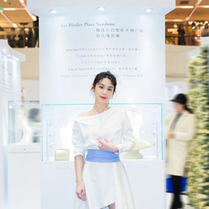 韩丹彤清新白裙亮相MIKIMOTO125周年纪念展开幕活动