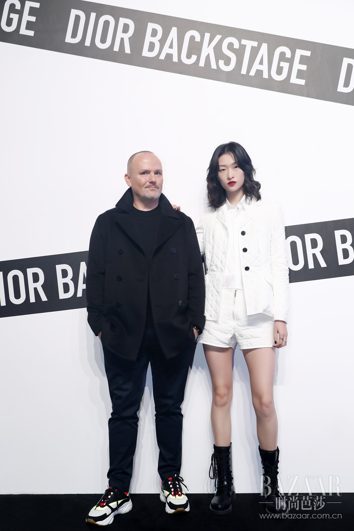 Dior迪奥彩妆创意与形象总监Peter Philips和国际超模汪曲攸-1