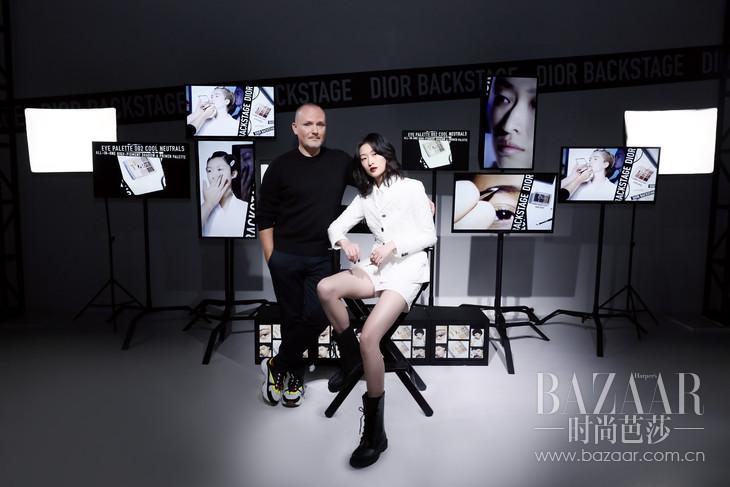 Dior迪奥彩妆创意与形象总监Peter Philips和国际超模汪曲攸