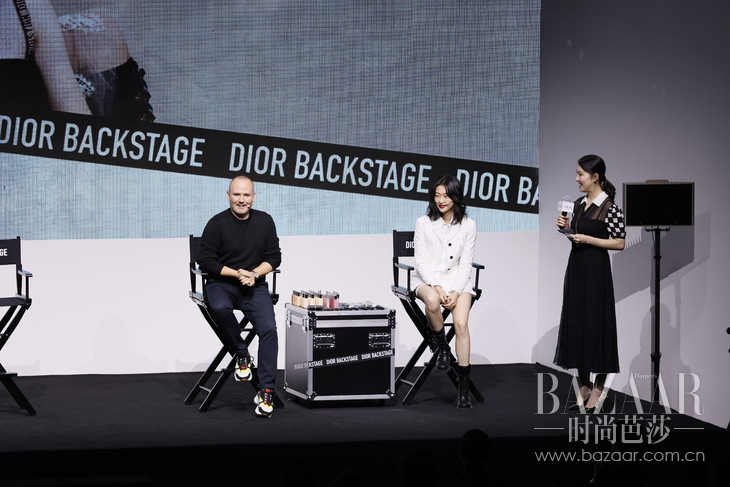 Dior迪奥彩妆创意与形象总监Peter Philips和国际超模汪曲攸现场互动-1