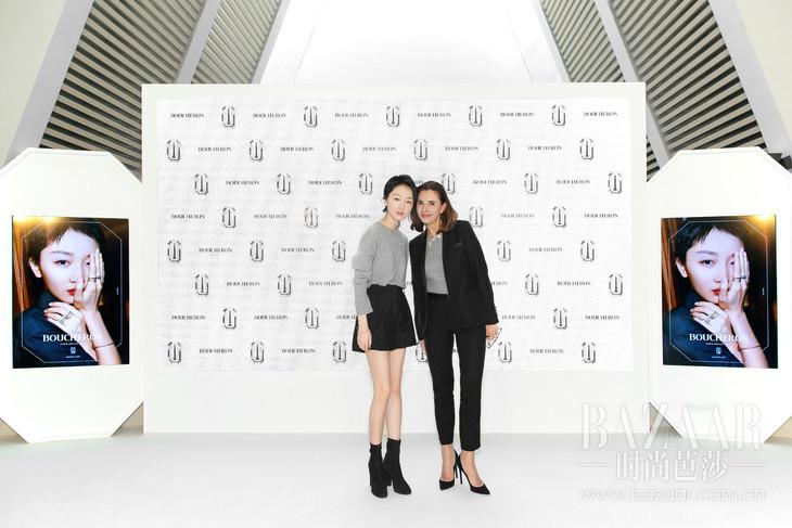 Boucheron宝诗龙大中华区代言人周冬雨与品牌全球传讯总监Aure